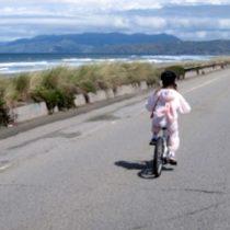 Biking along Ocean Beach. Photo by Frog Mom