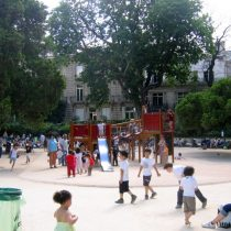 Playground at the Parc Monceau. Photo by Frog Mom