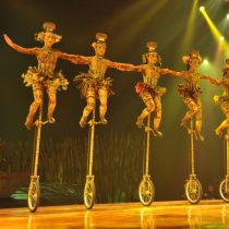 Unicycles and Bowls. Photo by Cirque du Soleil