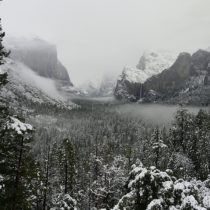 Snow in the Yosemite Valley