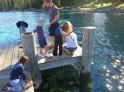 Fishing crayfish at Sugar Pine Point