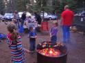 Roasting marshmallows at Sugar Pine Point