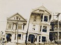 Slanted homes on Valencia Street, 1906 Earthquake. National Archives photos.