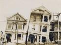 Slanted homes on Valencia Street, 1906 Earthquake. National Archives photos.