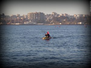 Kayak approaching