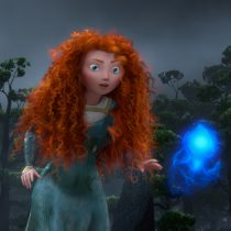 Merida following a Wisp. ©2011 Disney/Pixar