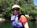 Frog Mom in full rafting fashion