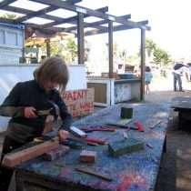 Nailing wood scraps