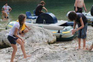 Andrew's crew on shore