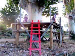 Treehouse ladder - finished!