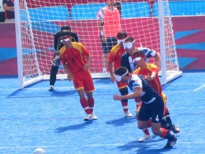 China plays against Great Britain