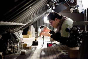 """FRANKENWEENIE""   (Pictured) Animator, Matias Liebrecht, animating Victor on the Attic set. Ph: Leah Gallo  ©2011 Disney Enterprises, Inc."
