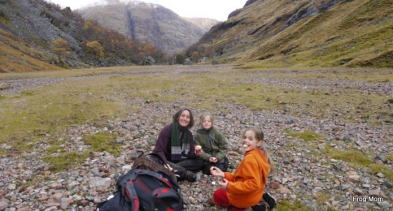 Picnic lunch on the hidden valley
