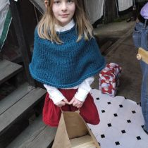 Matilda the elf brings scrap wood