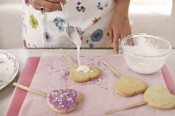 Shortbread heart lollipops, from Stacie Bakes cookbook. Photo courtesy of Stacie Bakes