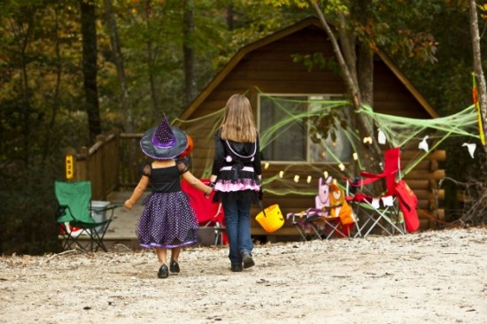 The magic of Halloween outdoors. Photo courtesy of KOA