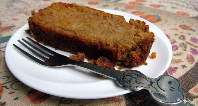 Pumpkin tea cake with my girls' favorite dessert fork