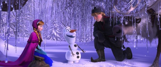 """""""FROZEN"""" (L-R) ANNA, OLAF, KRISTOFF and SVEN. ?2013 Disney. All Rights Reserved."""