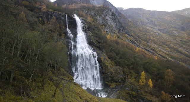 Waterfall above Flam in Norway