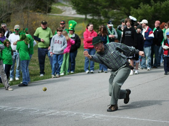 Irish road bowling tournament in Cookeville. Photo by Kevin O'Mara (Flick'r)