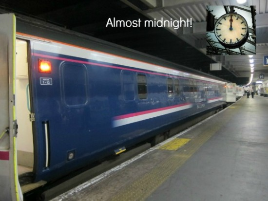 Caledonian Sleeper almost midnight