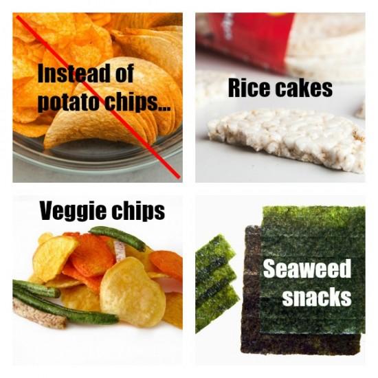 Healthy alternatives to potato chips