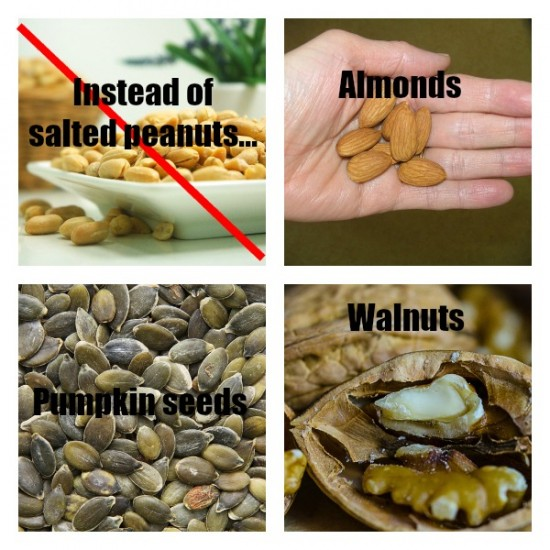 Healthy alternatives to salted peanuts