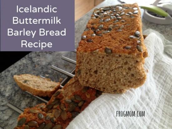 Recipe for Buttermilk Barley Bread