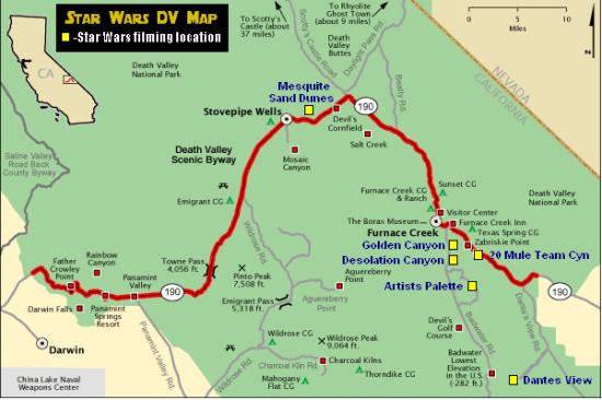 Star Wars Travel - Death Valley Map