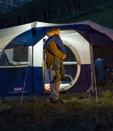 Tent with Lighting in Structure