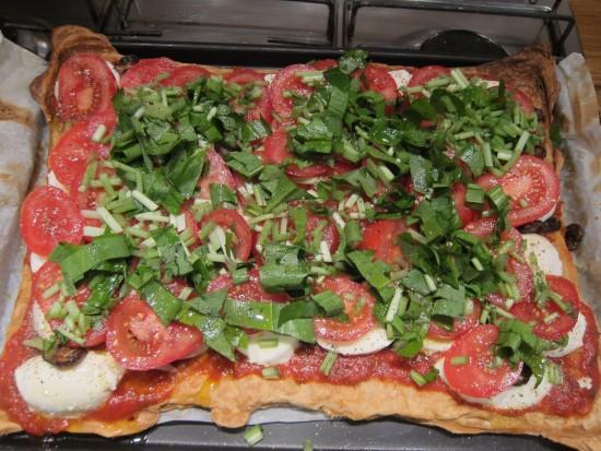 Wild Garlic Pizza Recipe - Assembling