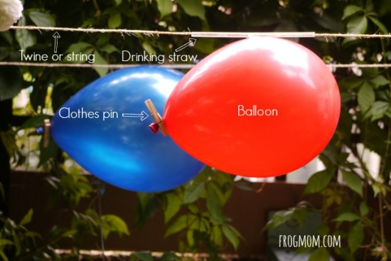 DIY Rockets for Kids - Balloon Rockets
