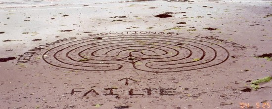 Things to do at the beach with kids - Sand Labyrinth