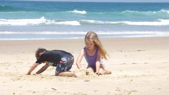 Things to do at the beach - Drill holes