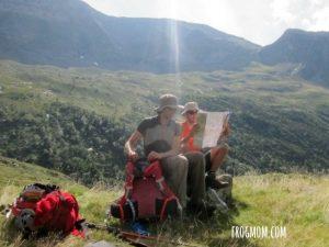 Les Estagnous - Pyrenees - Checking map