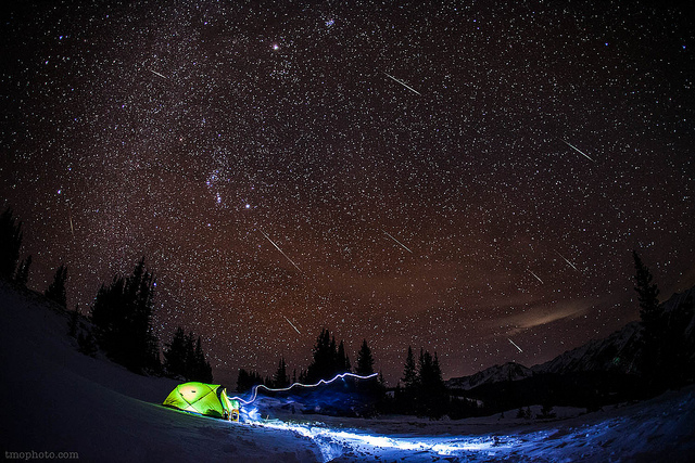 How to Spot Meteors when Camping - Geminids