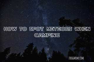 How to spot meteors when camping