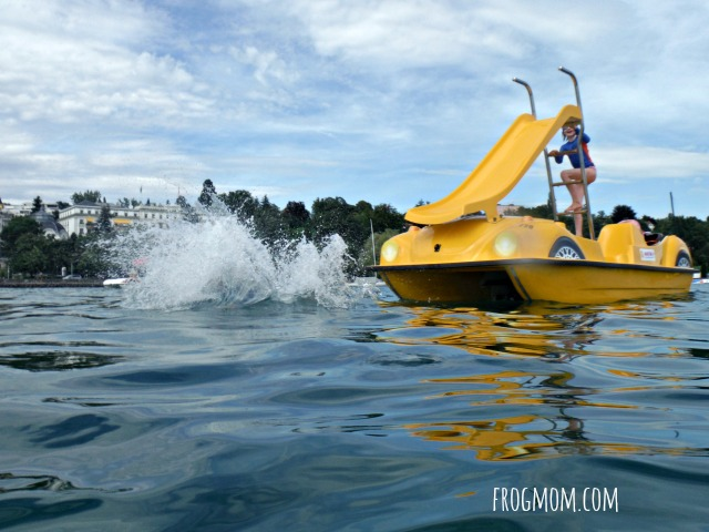 Lausanne with Kids - Paddleboat Slides