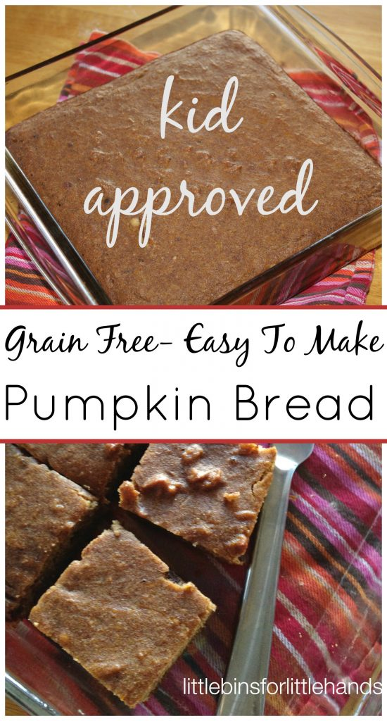 Pumpkin Recipes for Kids - Pumpkin Coconut Flour Bread