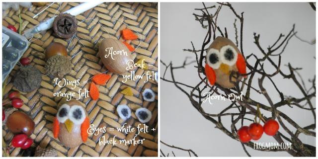 Halloween Tree Acorn Owl
