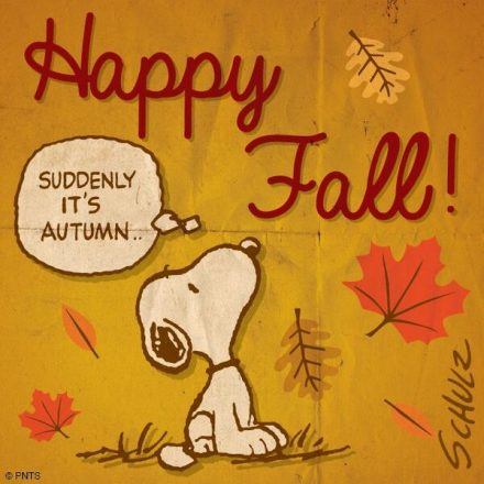 Celebrate Fall like Snoopy