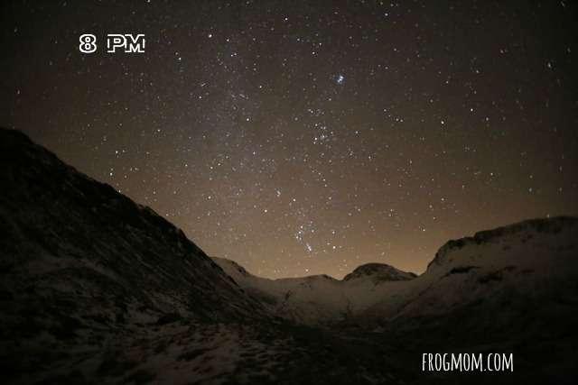 Winter Science Stars 8pm