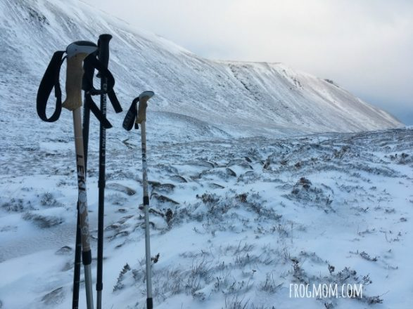 Winter family backpacking