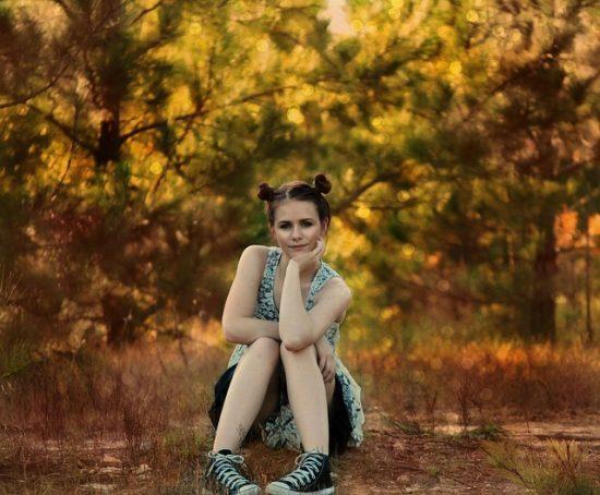 Teenage girl outside