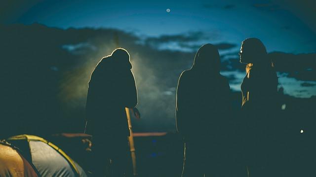 Teens camping