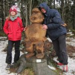 Chainsaw Artists Create a Forest of Wood Sculptures for Family Hiking in Switzerland