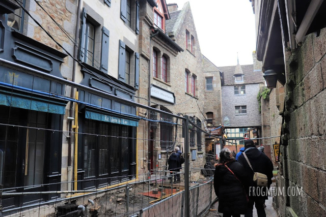 Street inside Mont St Michel city