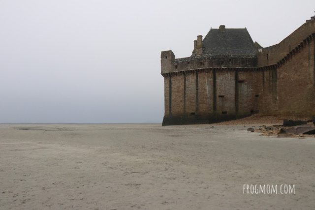 City walls, Mont St Michel