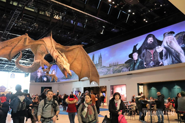 Hungarian dragon in Harry Potter Studios lobby