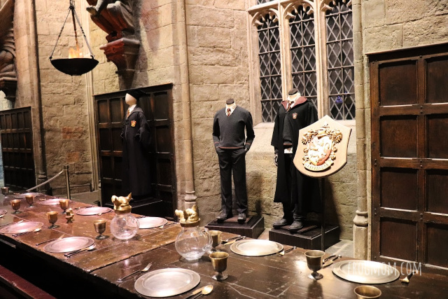 Harry Potter robes in Great Hall of HOgwarts - Harry Potter studios